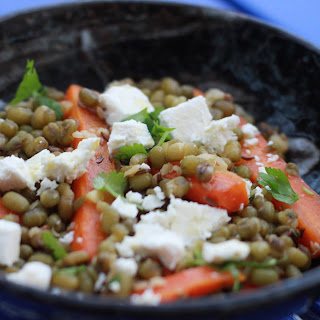 Skinny Ottolenghi Mung Bean and Carrot Salad.