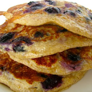 High-Protein Blueberry Pancakes.