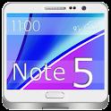 Note 5 Launcher et le thème icon