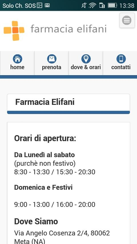 Farmacia Elifani- screenshot