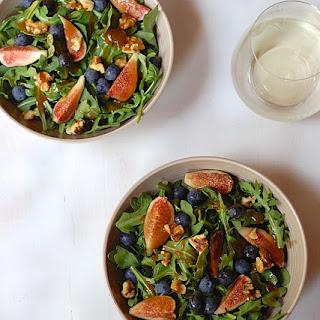 Arugula Fig Salad with Maple Fig Dressing