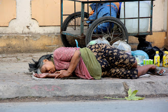 Photo: Year 2 Day 29 - Tramp Asleep on the Way out of Saigon (Vietnam)