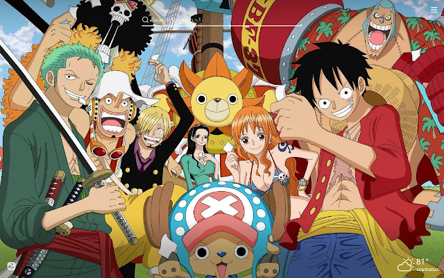 One Piece Hd Wallpaper New Tab Theme