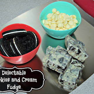 Delectable Cookies and Cream Fudge #RECIPE