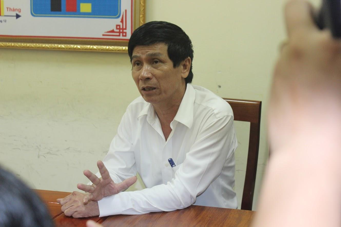 Tài xế Nguyễn Bắc Vĩnh tại cơ quan Công an