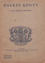 Photo: Livre de chants pour la 3ème classe. Méthode Kodály (1948)