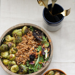 Vegan Farro & Roasted Brussels Sprout Salad