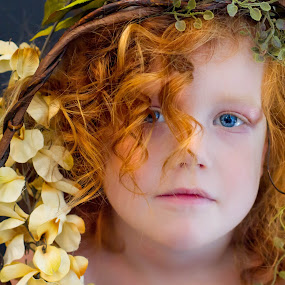 nature with in by Alisa German - Babies & Children Child Portraits ( little girl, blue eyes, flowers, red head,  )