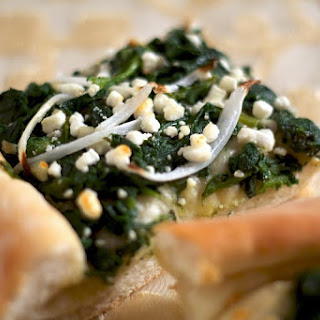Spinach Goat Cheese Pizza