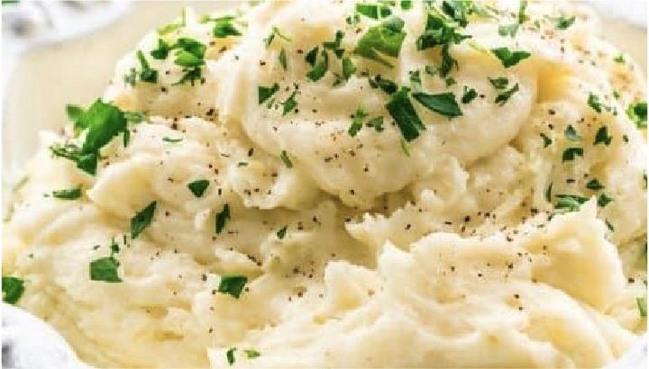thanksgiving potluck recipe - mashed potatoes