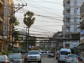 Photo: There was an unbelievable amount of above ground wires in all the countries I visited.