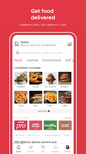 Zomato - Restaurant Finder and Food Delivery App screenshot 2