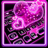 Tải Sparkling Neon Pink Keyboard APK