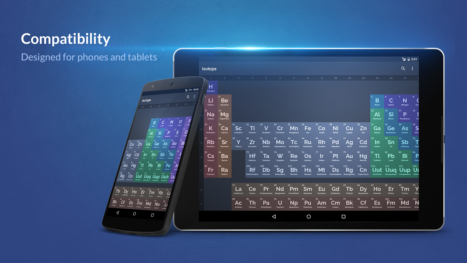Isotope periodic table android apps on google play isotope periodic table screenshot gamestrikefo Gallery