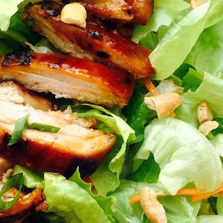 Asian Lettuce Wrap Chicken Chopped Salad.