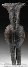 Photo: Venus of Eggendorf - female idol. Early Middle-Neolithic; from Eggendorf am Walde, Lower Austria. Height: 25,3cm