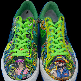 420 shoes by Colleen Flynn - Artistic Objects Clothing & Accessories ( shoes, cocolaroo916, 420, marijuana, nike,  )