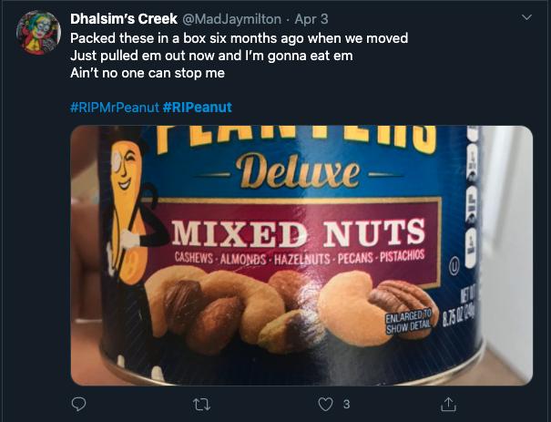 bad ads of 2020 bad branding my peanut tweet response 2