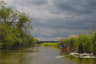 Photo: Canoeing on the river Peene with interesting light.