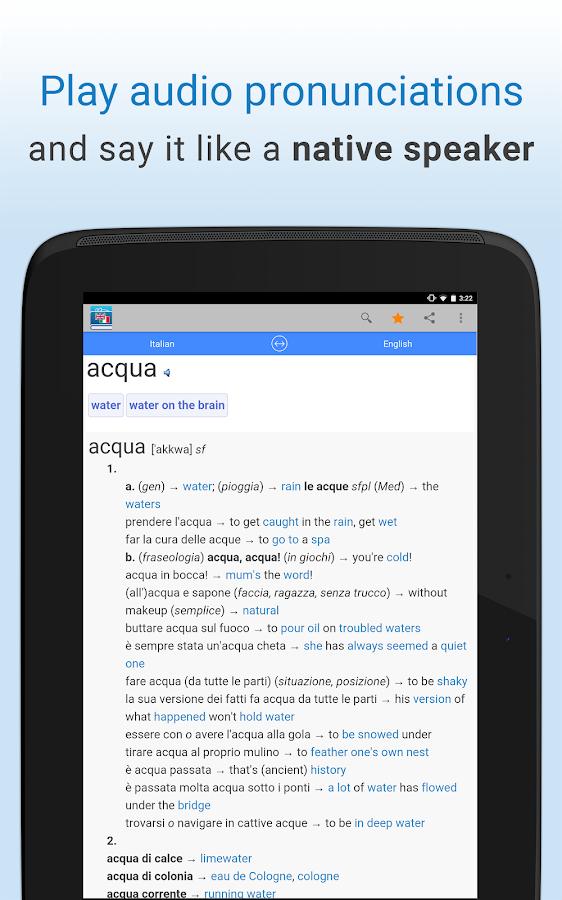english italian translation android apps on google play. Black Bedroom Furniture Sets. Home Design Ideas