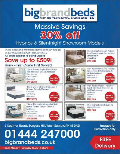 Hypnos & silentnight bed advert