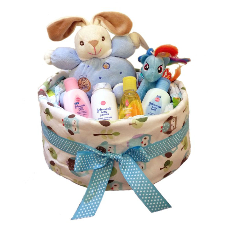 Bunny & Friend 1 Tier Diaper Cake by G-Ray Florist
