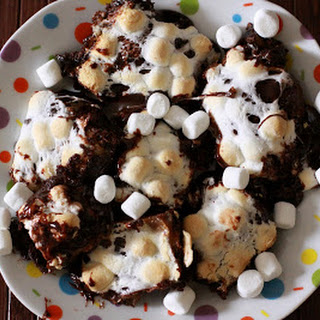 Oooey Gooey Marshmallow Caramel Molten Milky Way Brownies