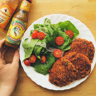 Mexican Style Spicy Bean Burgers.