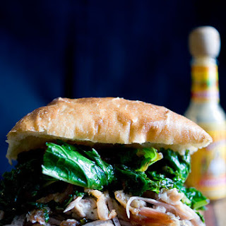 Pulled Pork, Greens and Bacon Sandwich - Put some South in your mouth