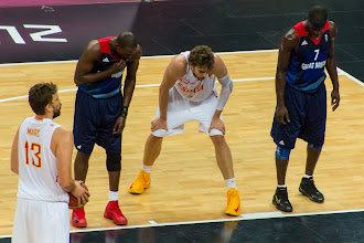 Photo: Luol Deng wtih Marc and Pau Gasol
