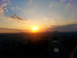 Photo: Watching the sun set over Paris