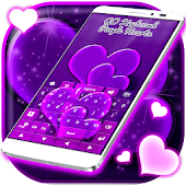 Purple Hearts For GO Keyboard