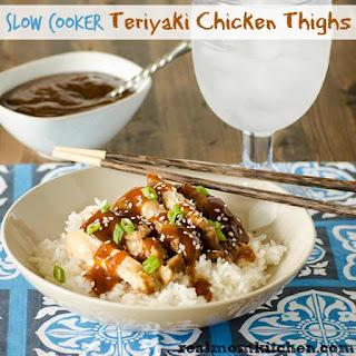 Slow Cooker Teriyaki Chicken Thighs.