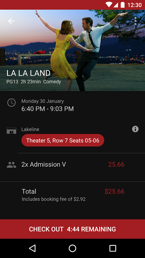 Alamo Drafthouse Ticketing App- screenshot