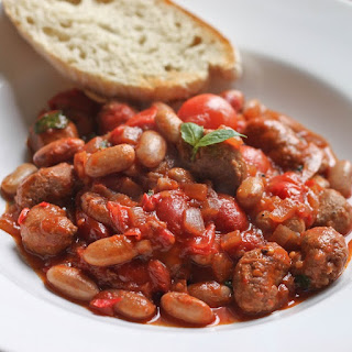 Slow Cooker Sausage and Bean Stew