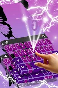 Purple Butterfly Keyboard - náhled