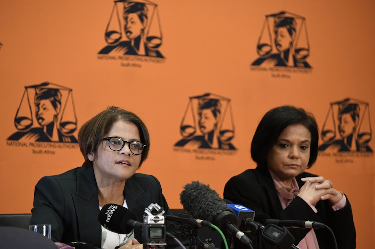 Investigative directorate director Hermione Cronje and national director of public prosecutions Shamila Batohi at NPA head office. Picture: Ntswe Mokoena