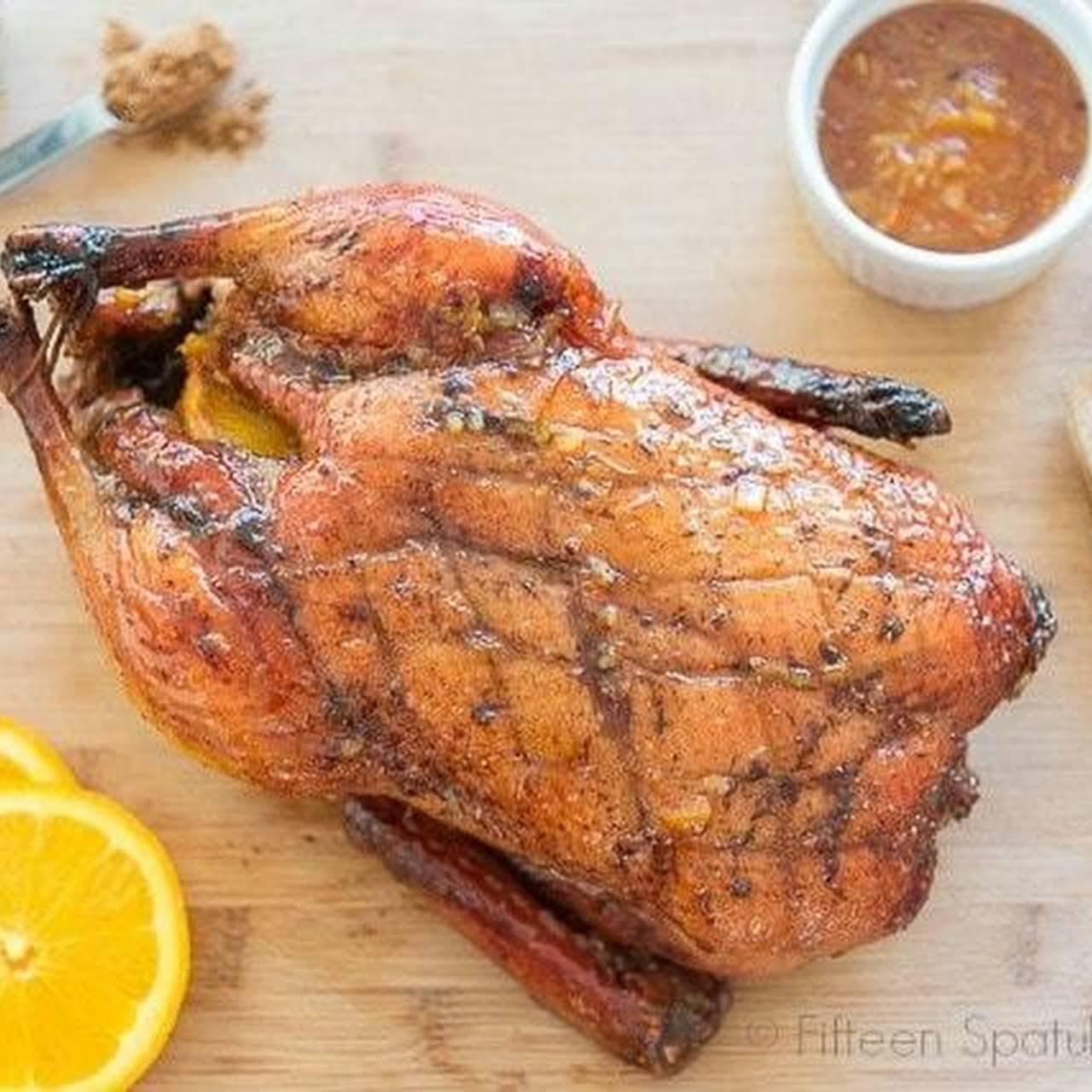 Five-Spice  orangey Glazed Roast Duck