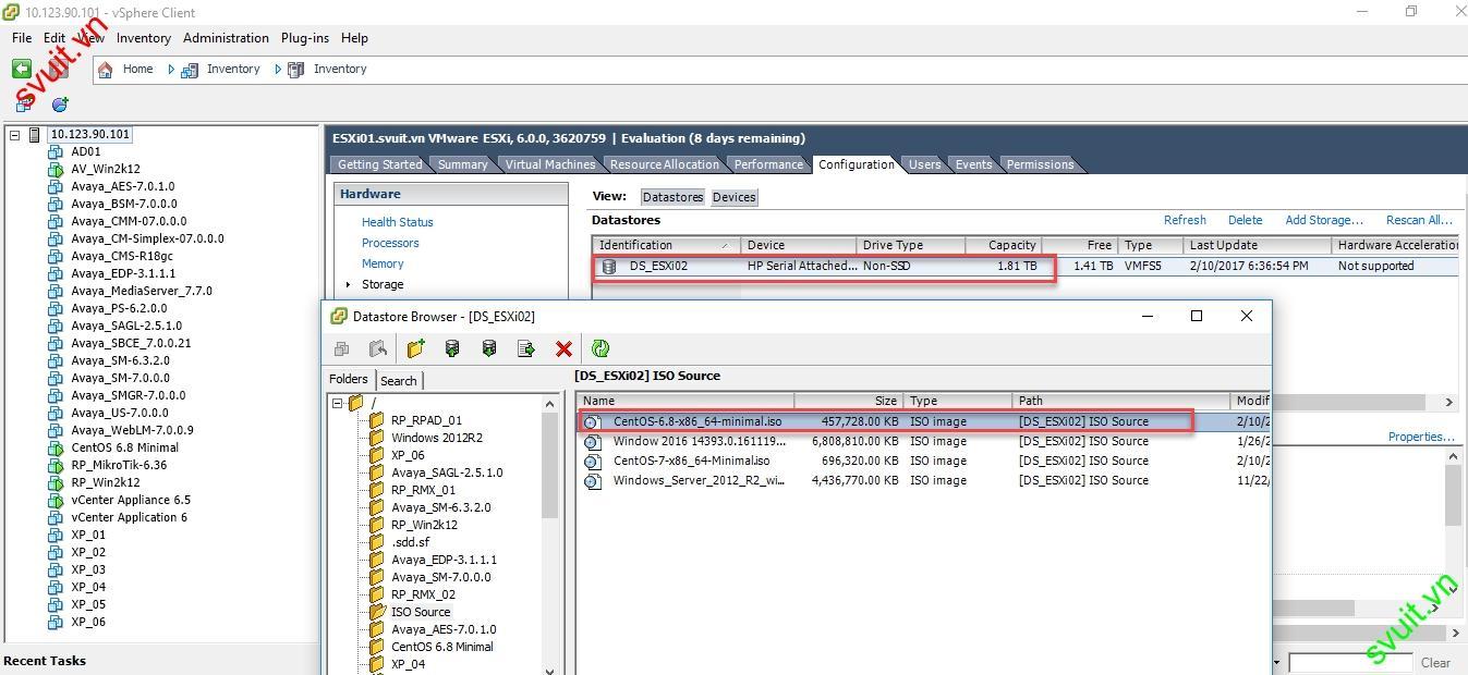 Install CentOS 6.8 on vmware vsphere 6(1)