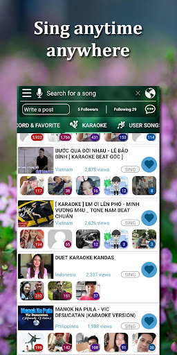 Kakoke - sing karaoke, voice recorder, singing app screenshot 1