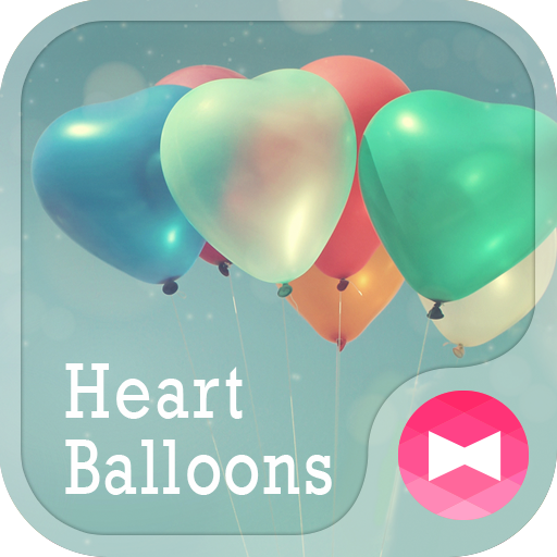 Heart Balloons +HOME Theme Icon