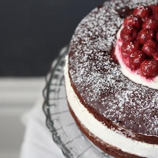 Red Wine Chocolate Cake with Honey Whipped Mascarpone