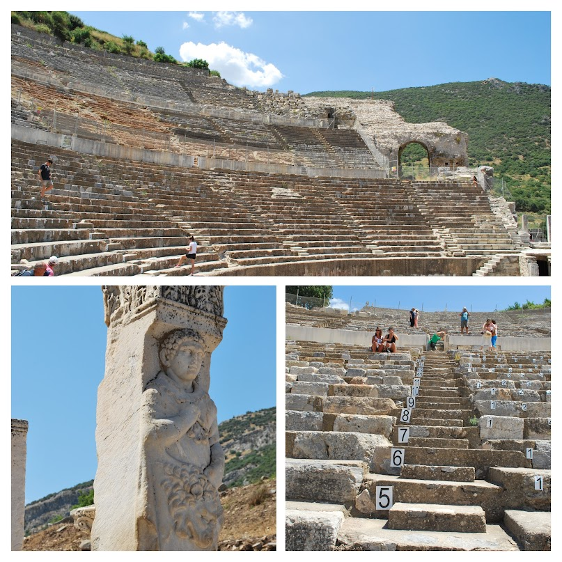stadium, column, Ephesus
