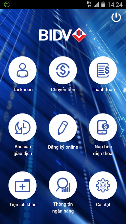 BIDV Smart Banking- screenshot