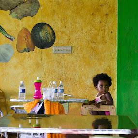 Alone in the Snack Bar by Dejan Dajković - Babies & Children Children Candids