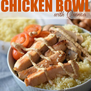 Mustard Chicken Bowl with Quinoa.