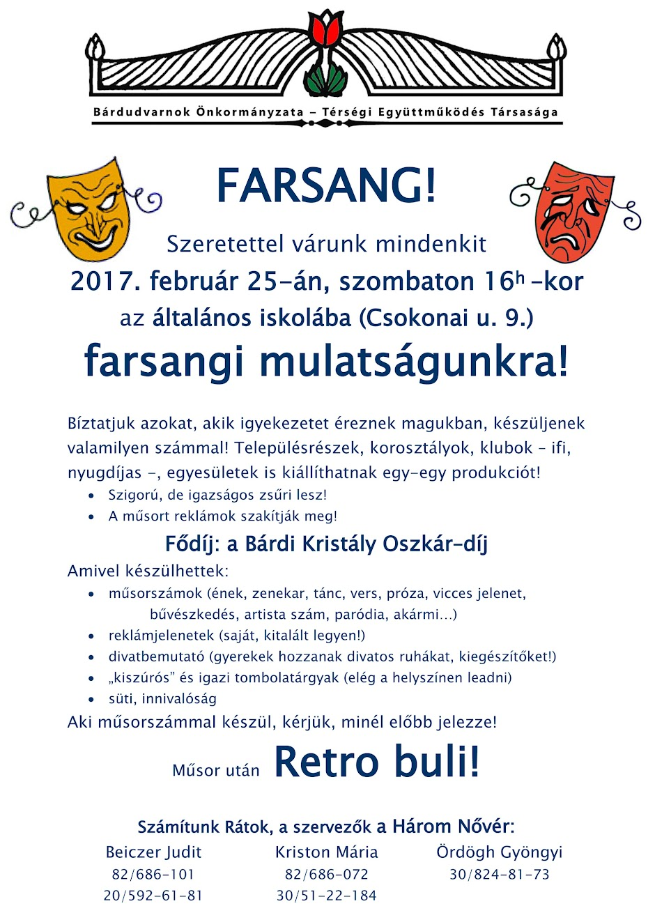 Farsang plakát 2017
