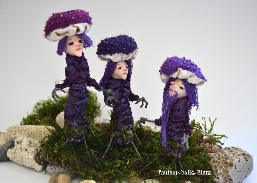 Gnomes Mushrooms handarbeit dolls