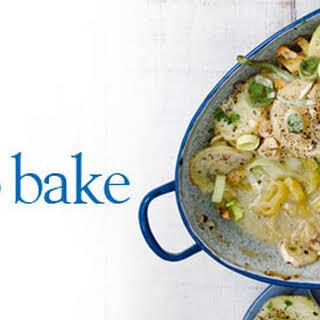 Leek And Potato Bake.