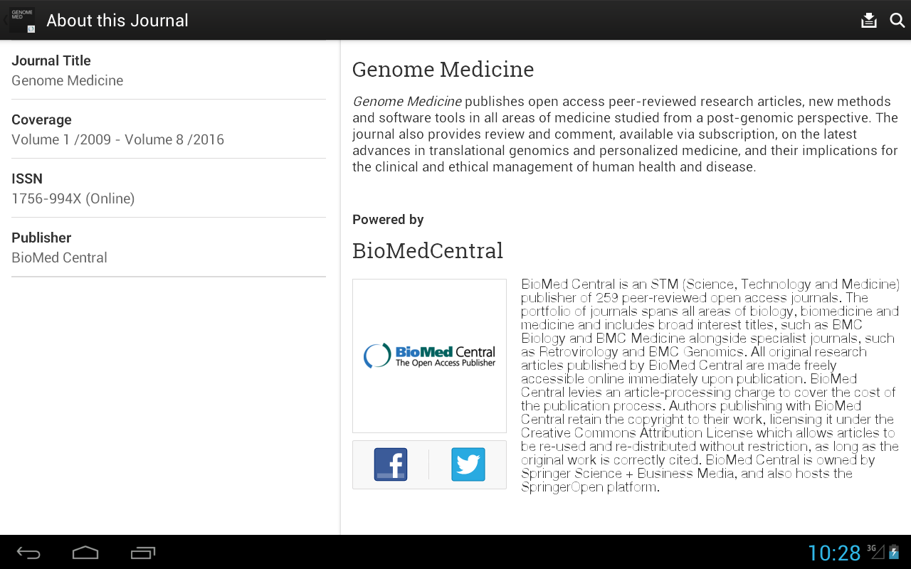 Genome Medicine- screenshot